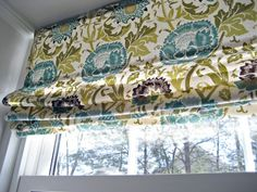 No sew roman shade using a cheap a mini blind as a base.