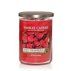 Yankee Candle Company Large Tumbler Candles - Sweet Strawberry - a good true scent with a nice throw. I like these two wick tumblers better than their classic jar.