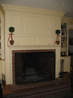 Authentic Colonial Mantels & Fireplaces by Sunderland Period Homes Primitive Fireplace, Fireplace Mantle, Fireplace Ideas, Fireplaces For Sale, Beadboard Wainscoting, Diy Home Decor Easy, Master Room, Colonial Architecture, Fireplace Remodel