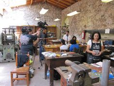 Taller plateria. Silver workshop in Taxco courtesy of the Taxco campus of ENAP