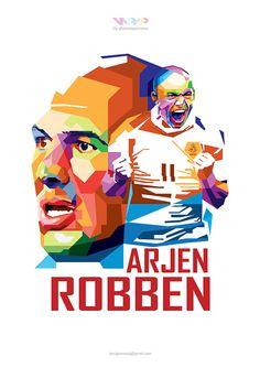 WPAP Robben on Behance