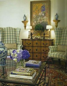 Great wing chairs.