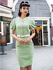 TS Chic Shoulder Sheath Dress – USD $ 15.00