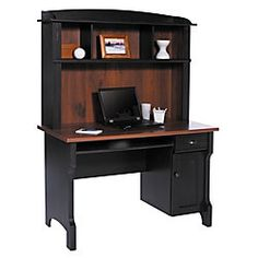 Realspace® Shore Mini Solutions Computer Desk With Hutch, Antique Black  Item # 616100. Office DepotCool ...