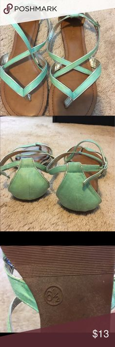 Teal sandals from Target Worn once Shoes Sandals