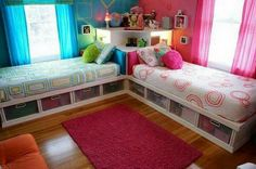 IF I ever have twins...this is a cute idea for their bedroom.