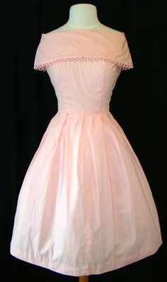 dresses from the 1960   pink 1960's party dress
