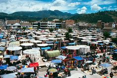 Otavalo, Ecuador. Largest outdoor market. All handmade crafts- Been there :) Gots me a Panama hat :)