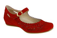 2d2f29d82995 Earthies Bella Suede Bright Red Walking Shoes