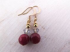 Gold Plated Earrings Agate Jewelry Gemstone Metal Jewellery