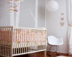 nursery grey with tough of pink and yellow