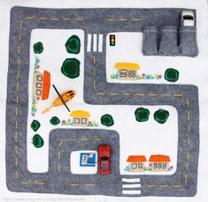 Etsy の Car Track Quiet Time Mat by MonoNoAvare