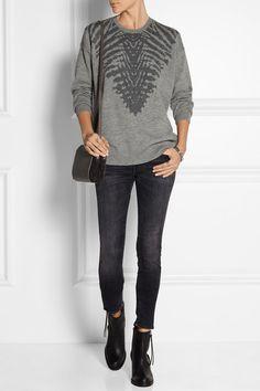 Raquel Allegra   Intarsia merino wool and cashmere-blend sweater   NET-A-PORTER.COM