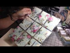 This video is a tutorial on using fabric in pocket letters....her videos are amazing!