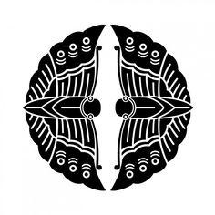対い蝶(むかいちょう) 大谷氏 家紋