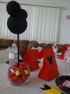 Mickey Mouse themed baby shower centerpiece