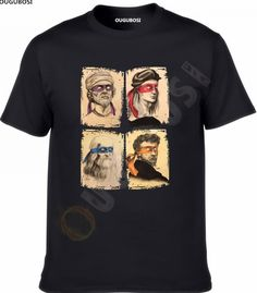 Leonardo Raphael Donatello Michelangelo Tmnt Scientists Comedy T-Shirt for Men- see original title free shipping  Price: 13.23 & FREE Shipping  #tshirts 309 Gti, Movie Tees, Types Of Printing, Cheap T Shirts, Michelangelo, Tmnt, Scientists, Sleeve Styles, Classic Cars