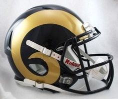 Los Angeles Rams Helmet - Riddell Authentic Full Size - Speed Style