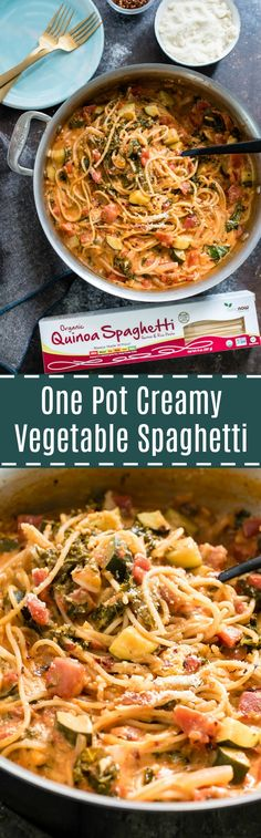One Pot Creamy Vegetable Spaghetti