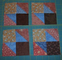 My clue #1 blocks for Grand Illusion Quilt -a Mystery Quilt from Bonnie Hunter