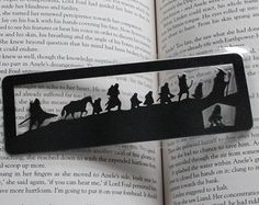 Hobbit and Fellowship Silhouette papercut Bookmark
