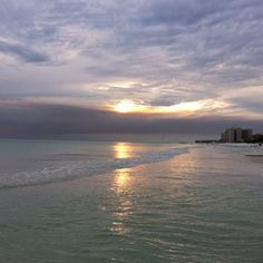 Sunset in destin Florida