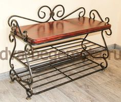Metal Shoe Rack, Shoe Shelves, Shoes Stand, Iron Work, Blacksmithing, Wrought Iron, Cabinet, Storage, Table