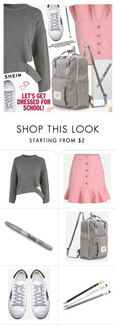 """Back To School"" by pokadoll ❤ liked on Polyvore featuring Sharpie"