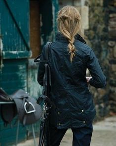 The Barbour waxed cotton jacket for that quintessential preppy look...and for keeping dry while staying fashionable. #RaincoatsForWomenPosts #RaincoatsForWomenCloset