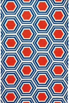 Castleberry flat weave in blue and coral  Would it work as replacement area rug in teen bedroom or too busy?