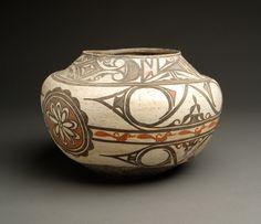 Zuni Pottery Polychrome Olla, circa 1880