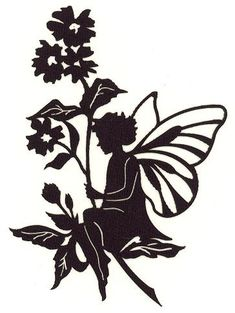 Pergamano fairies silhouettes on pinterest fairy for Fairy cut out template
