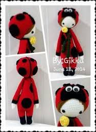 "Crochet Amigurumi Ladybug Ladybug Modified from ""Lalylala"" Pattern Crochet Dolls Free Patterns, Crochet Doll Pattern, Amigurumi Patterns, Doll Patterns, Crochet Amigurumi, Crochet Teddy, Amigurumi Doll, Crochet Toys, Crochet Crafts"