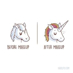 Just a little touch-up.... #makeup #insta #funny #unicorn #cute #horse #beauty #cute #kawaii #cuteness #awesome #artist #artprint