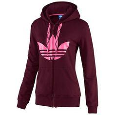 Moletom Adidas Women's G74958 Trefoil Hoodie Light Maroon #Adidas#Moletom