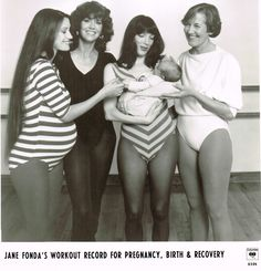 Jane Fonda - Pregnancy Workout Record - Publicity Photo - 1983