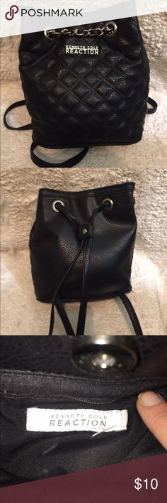 Kenneth Cole Black Bag Black leather Kenneth Cole Strap Purse. Looks brand new. Kenneth Cole Bags Totes