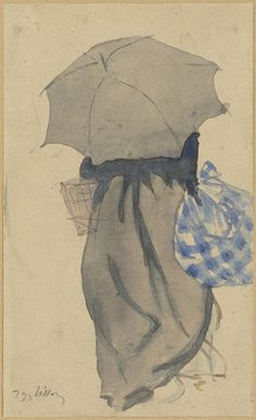 MoMA | The Collection | Jacques Villon. Woman with Umbrella. (c. 1900)