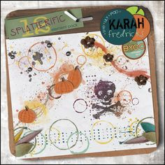 Splatterific 12 - paint clusters by Karah Fredricks ... Digital Scrapbooking