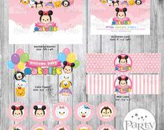 La torta de Disney Tsum Tsum personalizada nombre por Partyprintkk