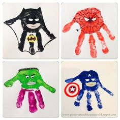 5 Superhero Crafts for Kids - The Chirping Moms Daycare Crafts, Baby Crafts, Preschool Crafts, Fun Crafts, Daycare Rooms, Toddler Art, Toddler Crafts, Toddler Activities, Diy For Kids