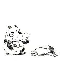 【一日一大熊猫】 2015.7.22 玉子は常温でも保つんだそうです。 問題は気温差による汗で、玉子に露が付くと サルモネラなどの雑菌が繁殖するんだって。 だから常温で売られてるみたいだね。 #玉子 #パンダ http://osaru-panda.jimdo.com