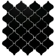 @Overstock - Unique lantern-shaped tiles provide a touch of elegant, old-world style to any indoor or outdoor wall or floor. Impervious to water and designed for medium-duty residential floors, these porcelain tiles are ideal for kitchens, bathrooms and pool sides.  http://www.overstock.com/Home-Garden/SomerTile-12.5x12.5-inch-Morocco-Glossy-Black-Porcelain-Mosaic-Tiles-Set-of-10/7304801/product.html?CID=214117 $91.99