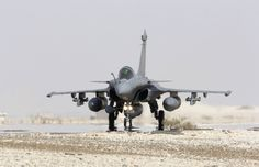 One of the French Armée de l'Air Dassault Rafales detached to Jordan, for Opération Chammal (French designation) for strikes and reconnaissance missions against ISIL in Iraq. Photo EMA / Armée de l'AIr