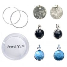 We love a gift set for this gifting season! It gives several different options to choose from at a great price! Hoop Earring & Bezel Set Drop Set $76 www.jewelya.com