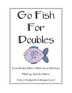 Here's a fun variation of Go Fish that uses dominoes and sum cards for doubles facts. Math Doubles, Doubles Facts, Math Addition, Addition And Subtraction, Doubles Addition, Addition Facts, Math Stations, Math Centers, Work Stations
