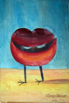 boca y patitas,Painting of the Serie Surrealism for sale by artist Diego Manuel