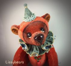 Pepper by Lisa Kurylec Green And Orange, Orange Color, Colour, In A Heartbeat, Jewel, Bears, Ribbon, Teddy Bear, Stuffed Peppers