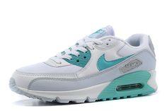 Femme Nike Air Max 90 blanc/Vert clair Vendre21.9003