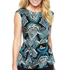Worthington® Belted Pleated-Neck Blouse - jcpenney  $16